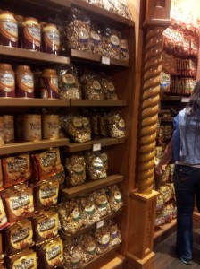 "A wall of Werthers in ""Germany"" at Epcot!"